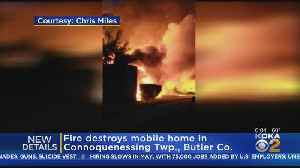 Fire Engulfs Mobile Home In Butler County [Video]