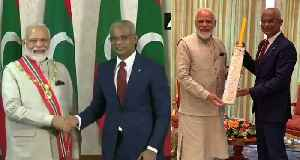 PM Modi accorded Maldives' highest honour; gifts special bat to Prez Solih [Video]