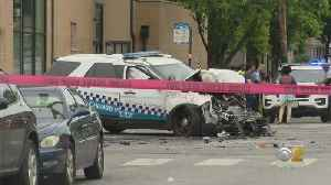 Humboldt Park Crash Sends Three, Including Two Officers, To Hospital [Video]
