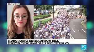 News video: Protests against Hong Kong extradition plan with China - interview with journalist Katrin Buchenbacher