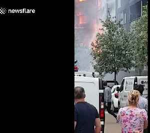 20 flats destroyed by massive fire in east London's Barking [Video]