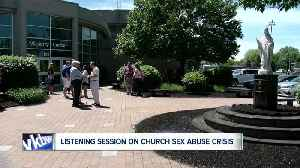 Bishop Malone holds first of seven victim listening sessions [Video]