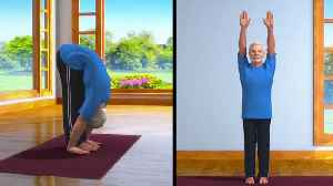 PM Modi demonstrates Padahastasana in his 5th animated yoga video [Video]