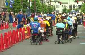 Blood, sweat but no tears: Japan's office chair racing [Video]