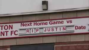 Fans pay tribute to Justin Edinburgh [Video]