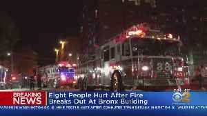 Breaking Overnight: 8 Hurt In Bronx Apartment Fire [Video]