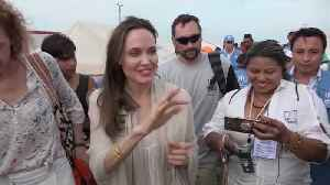 Angelina Jolie visits refugee camp in Colombia [Video]