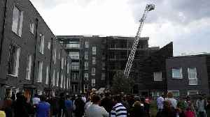 News video: Fire breaks out at East London flats