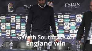News video: Gareth Southgate: We are not satisfied despite win over Switzerland