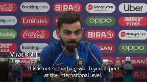 News video: Virat Kohli expresses concern over bails technology