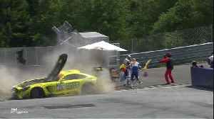 Fabian Vettel with a huge crash during the ADAC GT Master Race in Spielberg, Austria [Video]