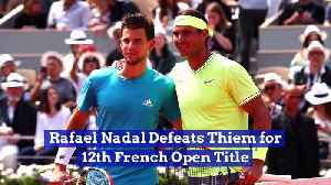 News video: Rafael Nadal Defeats Thiem for 12th French Open Title
