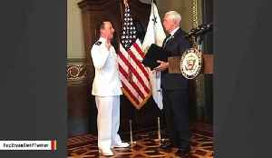 Reince Priebus Sworn Into The Navy By Pence [Video]