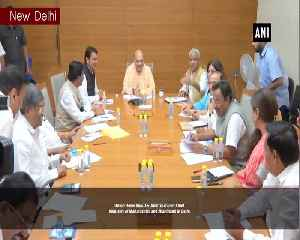 Amit Shah meets Devendra Fadnavis Raghubar Das ahead of state polls in Maha Jharkhand [Video]