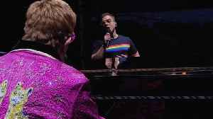 Sir Elton John duets with Rocketman star Taron Egerton [Video]