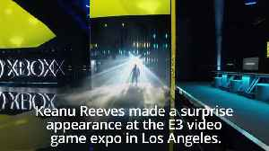 Keanu Reeves makes surprise appearance at video game expo E3 [Video]