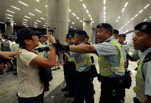News video: Hong Kong: Clashes after massive protest against extradition law