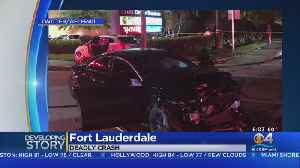 Deadly Crash In Fort Lauderdale [Video]