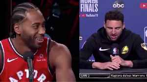 Klay Thompson MOCKS Kawhi Leonard's Laugh As He Gets Cocky Before Game 5! [Video]
