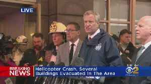 Mayor De Blasio, Officials News Conference On Helicopter Crash [Video]