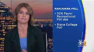News video: New Report Shows NY Residents Strongly Support Recreational Pot Use