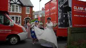 News video: HGV gets bride to the church on time