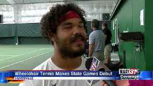Wheelchair tennis makes debut at state games [Video]