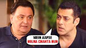Salman Khan To END FIGHT With Rishi Kapoor | Full Fight Story [Video]