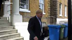 Boris Johnson staying tight-lipped as he leaves his house in London [Video]