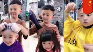 6-year-old hair stylist still crushing it with the scissors in China [Video]