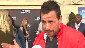 Aniston and Sandler talk each other up at 'Murder Mystery' premiere [Video]