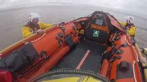 Warning Against Use of Inflatables as 2 Rescued by RNLI in Skegness [Video]