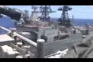 US Navy releases video of near-miss with Russian ship [Video]