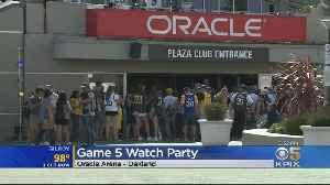 1000s Of Warriors Fans Gather At Oracle For Watch Party [Video]