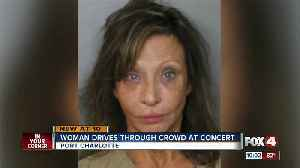Woman drives through concert, hits at least two people [Video]