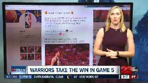 News video: Warriors force Game 6 with a 106-105 in Game 5 NBA Finals
