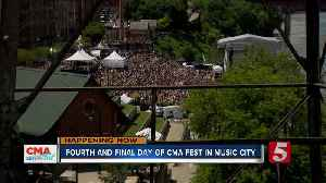 Fourth and final day of CMA fest brings thousands to Music City [Video]