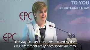Nicola Sturgeon: Scotland has been ignored by Conservative Government [Video]