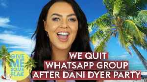 Love Island's Rosie Williams: 'Everyone QUIT our WhatsApp after Dani Dyer's party' [Video]