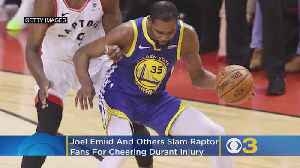 News video: Sixers' Joel Embiid, Other NBA Players Slam Raptors Fans For Cheering Kevin Durant's Injury