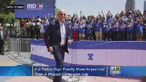 News video: Biden Says Family More Important Than Missed Campaign Trip