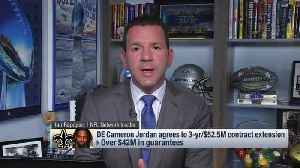 NFL Network Insider Ian Rapoport details defensive end Cameron Jordan's contract extension with the New Orleans Saints [Video]