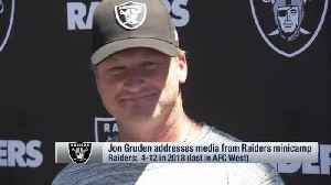 News video: Oakland Raiders head coach Jon Gruden on possibility of Raiders on HBO's 'Hard Knocks': 'That'd be awesome, wouldn't it?'