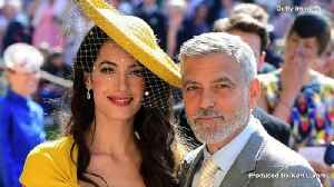 George and Amal Clooney 'Have Dinners' With Prince Harry and Meghan, Of Course [Video]