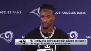 Los Angeles Rams running back Todd Gurley on health of his knee: 'This is small' compared to what I dealt with in college [Video]