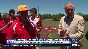 Comptroller congratulates Calvert Hall's baseball team [Video]