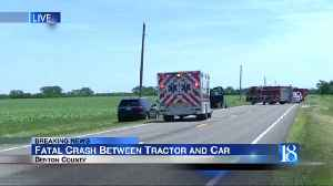 1 dead, 3 hurt after crash involving tractor and car in Benton County [Video]