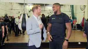 Prince Harry meets Anthony Joshua at sports project launch [Video]