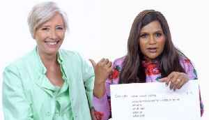 Mindy Kaling & Emma Thompson Answer the Web's Most Searched Questions [Video]