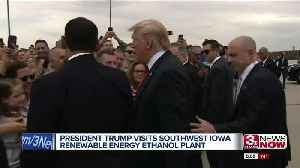 Trump Visits Iowa Ethanol Plant [Video]